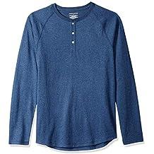 Amazon Essentials Camiseta Slim Fit de Manga Larga de Béisbol con Cuello  Henley Hombre f9cb20784ec