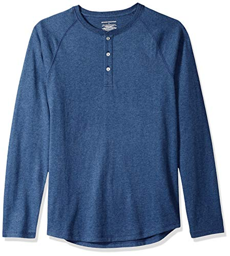 Amazon Essentials Camiseta Slim Fit de Manga Larga de Béisbol con Cuello  Henley Hombre 119858094bb