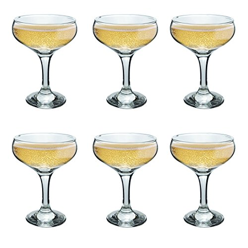 las Champagner Untertasse - 200ml - Packung mit 6 Champagne Coupe Brille ()