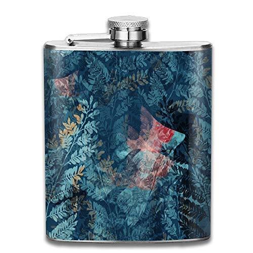 rwater World Raster Imprints Seamless Pattern Mixed Media Artwork for Textiles Gift for Men 304 Stainless Steel Flask 7oz ()