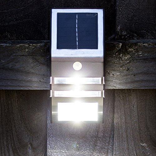 Bahi PIR Détecteur de Mouvements Sans fil Solaire Extérieur DEL lumière Lampe Pour Jardin Clôture Allées Gouttière sécurité Jardin Imperméable Cour Voie Veilleuse