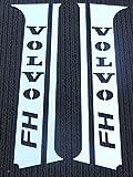 4 decorazioni per portiera in acciaio inox effetto cromato e lucidato per furgoni FH4/Euro 6