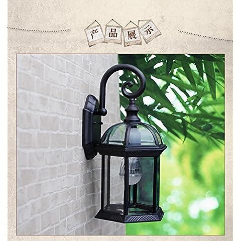 KMDJ exterior jardín de estilo europeo impermeable ligero terraza exterior para colgar en la pared de la casa de luz la iluminación decorativa pared 400*200 (mm) ,