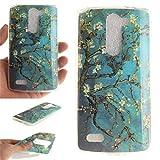 Nancen LG L Bello / D337 D331 D335 (5 Zoll) Hülle, Ultra Dünn Spezielle Weiche TPU Full Silikon Cover Case Handyhülle Schutzhülle Tasche [Plum Blume]