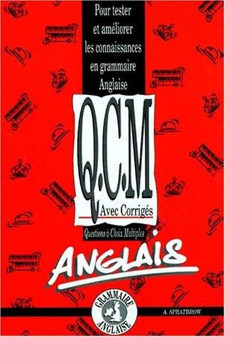 QCM de grammaire anglaise