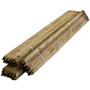 1,5m 150(-) Garten Einsatz (50Stück) 32x 32mm quadratisch gesägt imprägniertes Holz Baum Pfosten
