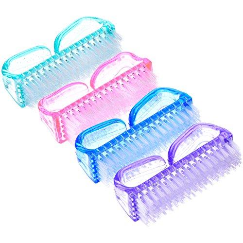 Brosse à Ongles Récurer en Plastique Main Brosse de Nettoyage, 4 Pièces
