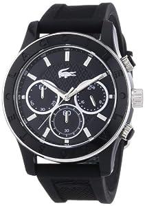 Lacoste 2000801 - Reloj analógico de cuarzo para mujer, correa de silicona color negro (cronómetro) de Lacoste