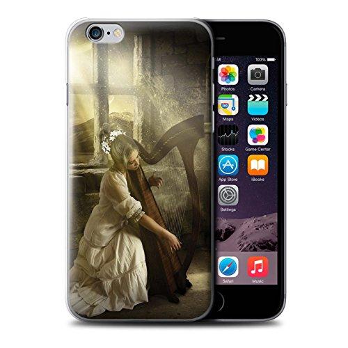 Officiel Elena Dudina Coque / Etui pour Apple iPhone 6S / Chanson de Fleurs Design / Réconfort Musique Collection Harpe/Harpiste