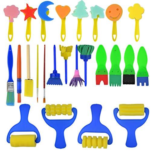 Kinder Schwamm Malerei Pinsel Früherziehung Zeichnung Werkzeuge für Kunst Handwerk DIY Kunsthandwerk ()