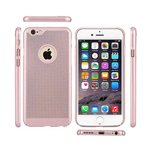"MOONCASE iPhone 6 Plus/iPhone 6s Plus Hülle, Rugged PC Rüstung Wärmeableitung Handyhülle Ultra Thin Fallschutz Anti-Scratch Schutztasche Case für iPhone 6s Plus 5.5"" Rose Gold Red"