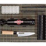 Bazumaki Sushi-Herstellung Kit (6-teiliges Set) Roll-Maker | Kochmesser | Slicer Tool | Nigiri Form | Bambusmatte | 2 Paar wiederverwendbare Essstäbchen | Anfängerfreundlich | Einfach zu säubern