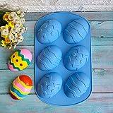 probeninmappx Ostern Tag Geschenk DIY Backform Werkzeug 3D Ostereier Form Silikonseifenform Schokoladenpudding Gelee Süßigkeiten Cookie Maker