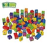BiOBUDDi BB-0013 Bausteine 100-teile Set; biologische Bausteine Zum Stecken Kompatibel zu Anderen Marken; Hergestellt aus Bio-Kunststoff; Besonders Umweltfreundlich; ab 1,5 Jahren