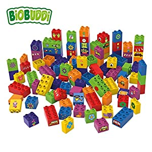 BiOBUDDi Learning to Build 100 pcs 100pieza(s) - Bloques de construcción de Juguete, 100 Pieza(s), Plaza, Imagen, Preescolar, Niño/niña