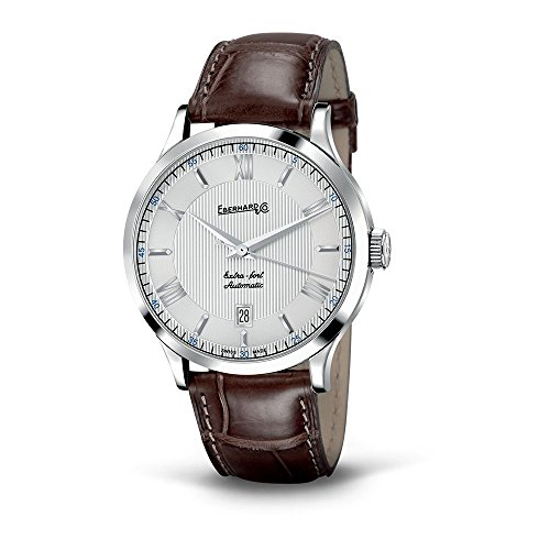 Watch Eberhard Extra Fort Automatic Time only Leather Crocodile 41029.5 CP