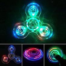 NiceTime Tri-Spinner Clear LED Fidget Spinner Toy, High Speed Hand Spinner ADHD Anxiété pour les enfants et les adultes