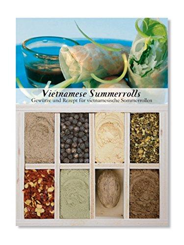 Vietnamese Summerrolls – 8 Gewürze für vietnamesische Sommerrollen (60g) – in einem schönen Holzkästchen – mit Rezept und Einkaufsliste – Geschenkidee für Feinschmecker – von Feuer & Glas