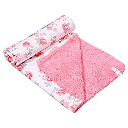 132 Premium Quality Baby Fleece Double Layered Blanket (Pink)