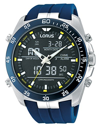 Lorus men's Quartz Watch  Display and Rubber Strap RW617AX9 Best Price and Cheapest