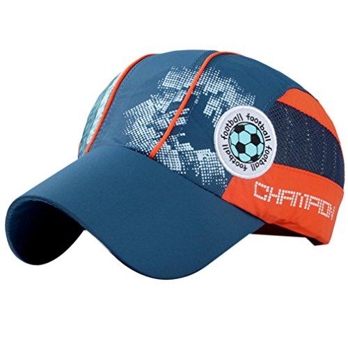 Belsen Mädchen Fußball Baseball Kappen Mesh Cap Truckers Hat (Dunkelblau) Fußball Mesh Trucker Hat-cap