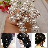 Moobom 20 piezas en forma de Flor pelo pines de fiesta boda tira en el tobillo y diamantes de imitación suite vestido de dama de honor pinzas