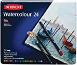 Derwent Watercolour Pencils Tin - Multicoloured, Set of 24