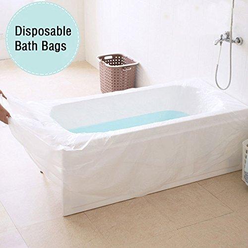 UCTOP STORE 5 pièces Couverture Plastique Jetable de Baignoire Ultra Large pour baignoires de Salon Sac de Baignoire