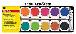 Eberhard Faber 578112 Deckfarbkasten EFA Color, 12 Farben, Mehrfarbig