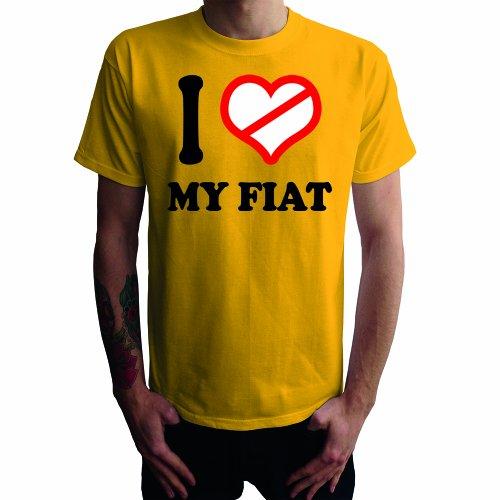 I don't love my Fiat Herren T-Shirt Gelb