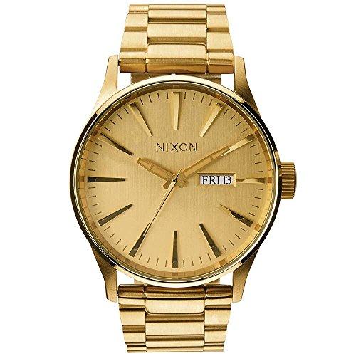 Nixon - A356502-00 - Montre Homme - Quartz Analogique - Bracelet Acier Inoxydable Plaqué Doré