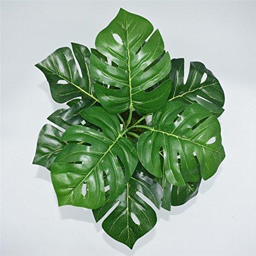 Westeng 1 Bouquet Künstliche Pflanzen Blätter Kunststoff Pflanze Dekoration für Hausgarten Büro – Tropical Palm Leaves