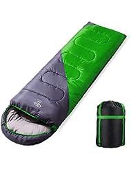 Saco Calentito de Dormir - Gran Confort/Acabado Perfecto/Soporta Húmeda Temperatura Baja (verde)