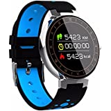 RCE - L8 [Color OLED Screen] Blood Pressure And Heart Rate Monitor Smart Watch With Fitness Tracker For Android And IOS (Blue/Black)