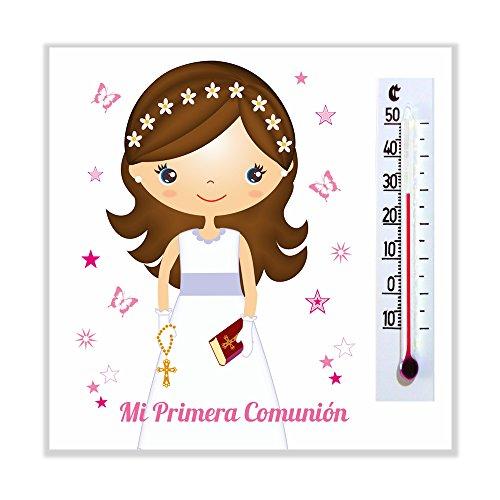 Detalles y Regalos de Comunión Para Invitados   Imanes con termómetro para Comunión Niña   Bonitos y Originales para regalar   Realizados en España   Pack 40 unidades   ¡Sus Amiguitos Alucinarán!