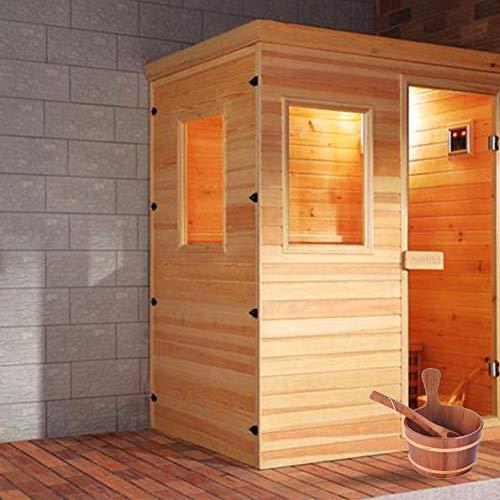 learnarmy Saunaeimer aus Holz mit Schöpflöffel - Saunaeimer und Löffel, handgefertigter Badezimmer-Eimer, Naturbade-Accessoires, Whirlpool-Zubehör für Home Stores Chic hervorragend