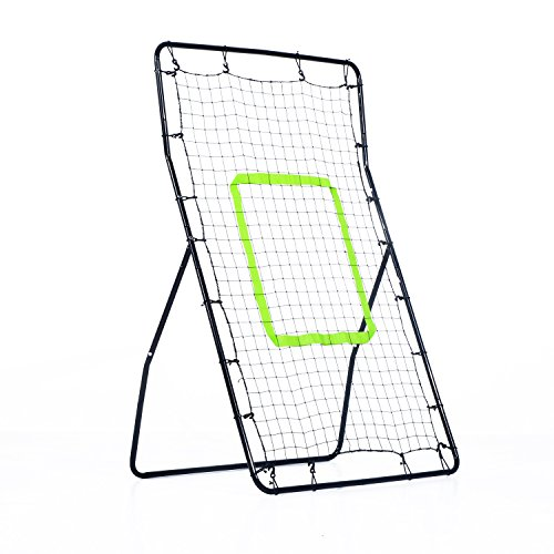 Price comparison product image HOMCOM Rebounder Net Playback Soccer Football Game Spot Target Ball Rebounders Training Equipment Play Teaching