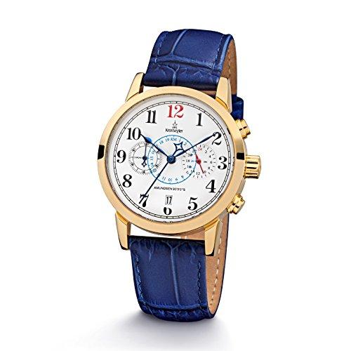 kronsegler-amundsen-9000s-ladies-chronograph-telemeter-gold-white-blue