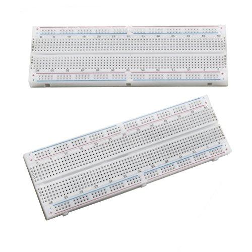 Terminal-adapter-kit (ALLEU (2pcs) 830 Breadboard Steckbrett Lochraste Laborsteckboard Experimentierboard für Raspberry pi und Arduino)