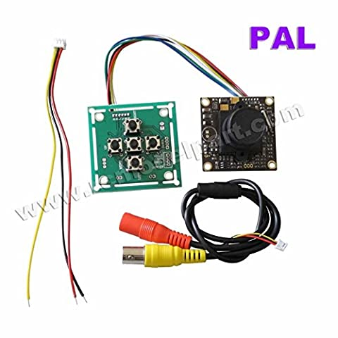 powerday®Sony 700TVL PAL Super HAD CCD II 2.8mm Lens FPV Camera + OSD Control Panel