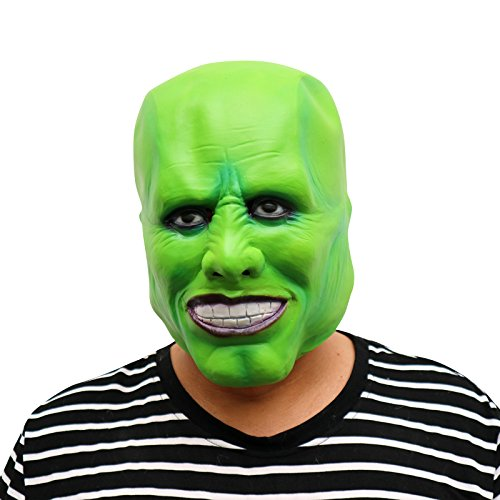 thematys Die Maske Jim Carrey Joker Maske - perfekt für Fasching, Karneval & Halloween - Kostüm für Erwachsene - Latex, Unisex - Jim Carrey Kostüm