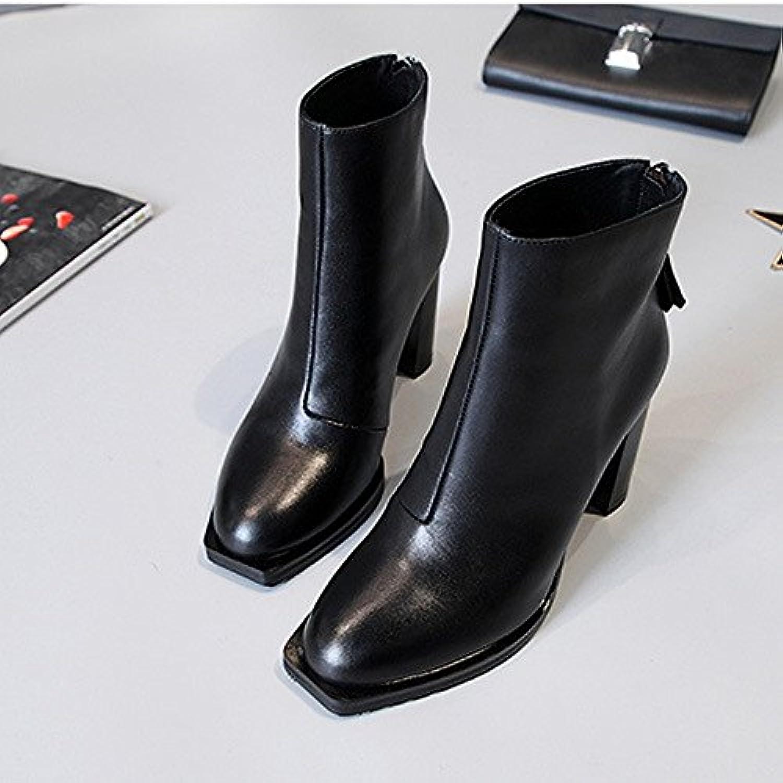 hh high heeled woHommes des 's des bottes avec des woHommes bottes b07bjzsn78 court bottes, épaisse, parent 05ce65