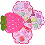 Makeup Toy Strawberry Shape Makeup Set Pretend Play Cosmetics Toy For Girls 5 Years And Older