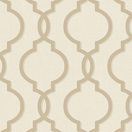 HOLDEN laticia Geometrisch Barock Muster Tapete metallische Glitzern texturiert - 65491 creme-gold