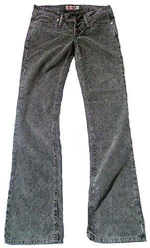 Cord-jeans-rock (Fornarina Damen Jeans Grau Schwarz Model TOY MORE Rock Star Designer Bootcut Cord Kord Hose 29/34 W29 L34)