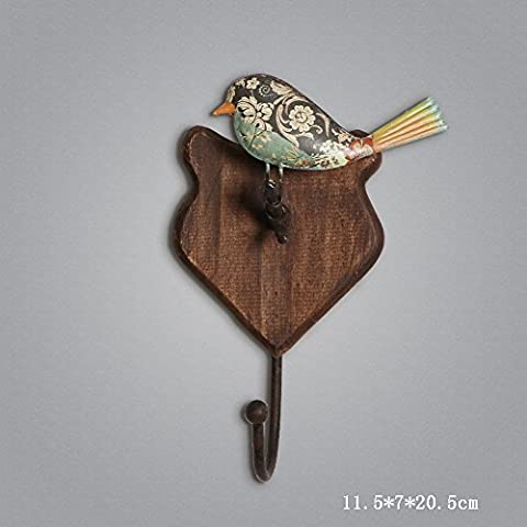 Global- Style De Style Européen Pastoral Iron Decorative Hook Up Forme D'oiseau Retro Coat Hook / Wall Hanging / Wall Ornament ( Couleur : #1 , taille : 11.5*7*20.5cm )