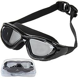 Physionics Lunettes de Natation Adultes - Couleur au Choix, pour Les Hommes et Les Femmes, Protection UV, Anti Buée - Lunettes de Piscine, Swimming Goggles