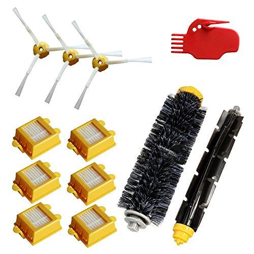 Gosear® Kit de Remplacement de Filtre Brosse Latérale HEPA Vac pour iRobot Roomba 700 Série 760 770 780 790,Total 12Pcs