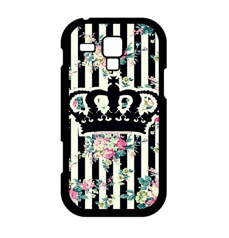 SAND RAEC RUCER Shop Custom Original Crown With Stripes Hard Back Hülle Cover Für Samsung Galaxy S3 Mini, Samsung S3 Mini Phone Slim Carring Schutzhülle For Teen Girls (Vintage Crown Ring Fashion Design)