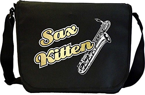 Saxophone-Sax-Baritone-Sax-Kitten-2-Sheet-Music-Document-Bag-Musik-Notentasche-MusicaliTee